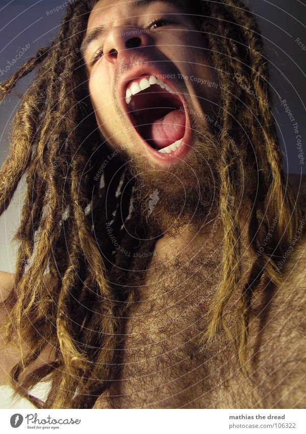 Mathias The Dread XII Dreadlocks Felt Long Dark Vessel Man Masculine Strong Threat Shoulder Concealed Nerviness Visual spectacle Shadow play Anger