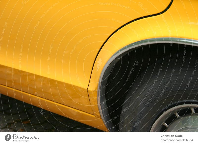 Yellow speedster Window Driving Vintage car Wheel cover Things Motorsports Car my brother Parking paint
