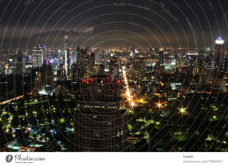 Bangkok Skyline Vacation & Travel Tourism City trip Night life Thailand Asia Town Capital city Downtown Populated Overpopulated High-rise Roof Gigantic Infinity