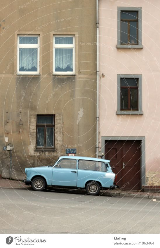 City Old Blue Loneliness House (Residential Structure) Window Yellow Wall (building) Street Wall (barrier) Pink Facade Flat (apartment) Dirty Car Door
