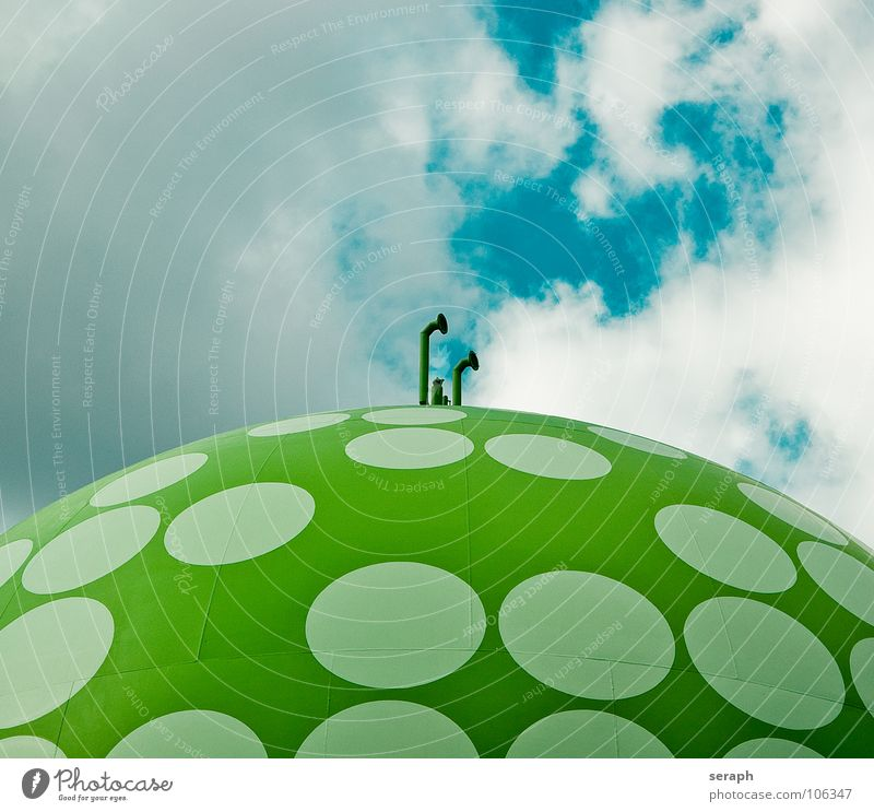 Environment Architecture Energy industry Technology Industry Manmade structures Sphere Construction Storage Environmental protection Ecological Gas Industrial