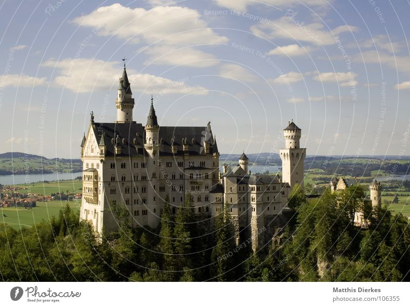 Beautiful Summer Art Architecture Tourism Tower Alps Fantastic Castle Luxury Jewellery Monument Historic Bavaria Landmark