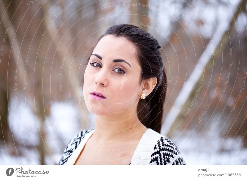 bright Feminine Young woman Youth (Young adults) Face 1 Human being 18 - 30 years Adults Bright Beautiful Colour photo Exterior shot Day Shallow depth of field