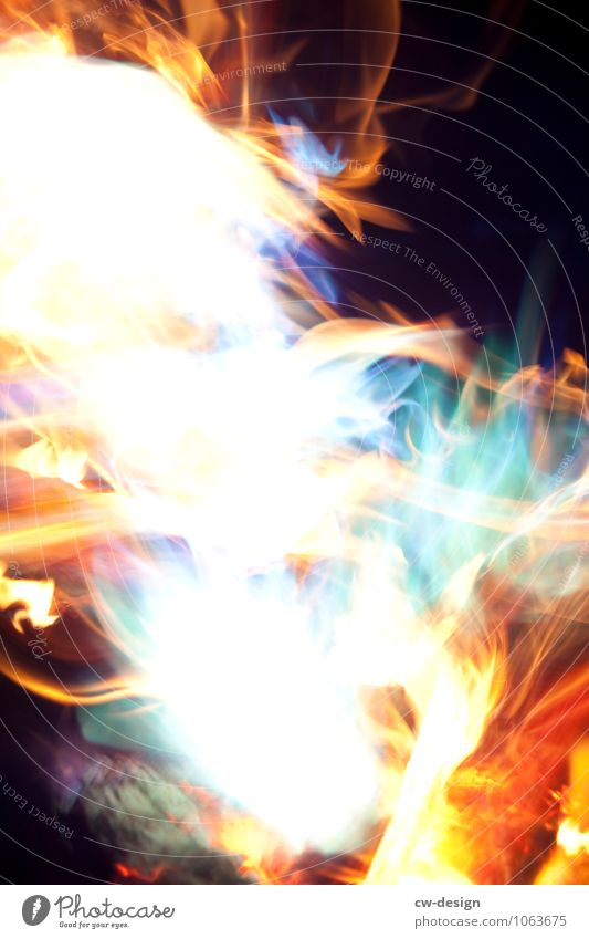 Colourful fire Art Event Shows Movement Hot Life Force Esthetic Fire Blaze Firestorm Flame Multicoloured Exterior shot Copy Space left Copy Space right