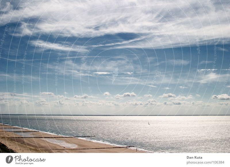 Water Sky Ocean Blue Beach Clouds Cold Freedom Line Coast Wind Horizon Multiple Open Level Soft