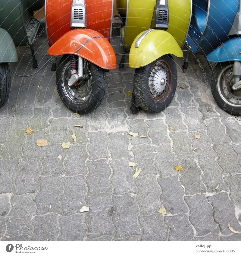 50+ Scooter Swallow Motorcycle Gasoline Driving Wheel Tin Guard Engines Wheel cover Red Yellow Green Sidewalk Town Vintage car Past The fifties Speed Practical