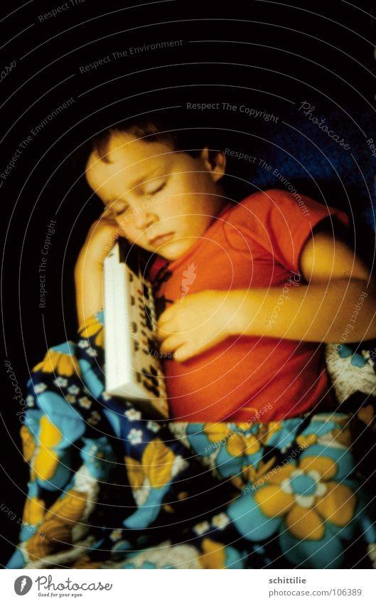 sleep sleep child sleep ... Child Sleep Sleeping bag T-shirt Red Flower Girl Dream Listening Trust Toddler Concert Music Sound Keyboard Blue Touch Peace