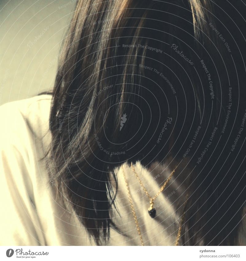 hair Woman Blur Go under Chin Illuminate Unobserved Self portrait Brunette Hair and hairstyles Haircut Raw Emotions Macro (Extreme close-up) Close-up