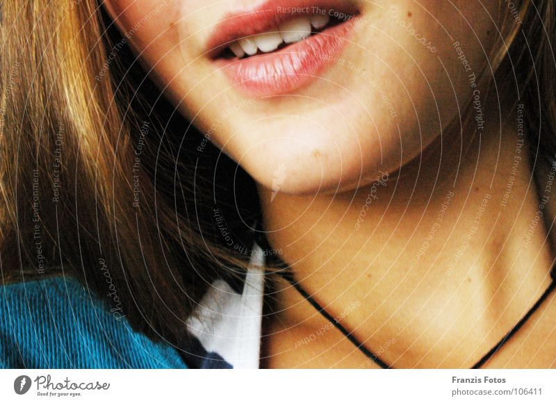 Woman Beautiful Face Hair and hairstyles Laughter Brown Mouth