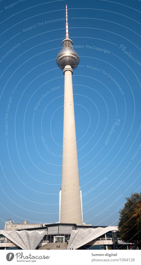 Berlin Television Tower Design Vacation & Travel Sightseeing Town Capital city Downtown Architecture Tourist Attraction Berlin TV Tower Famousness Tall Blue