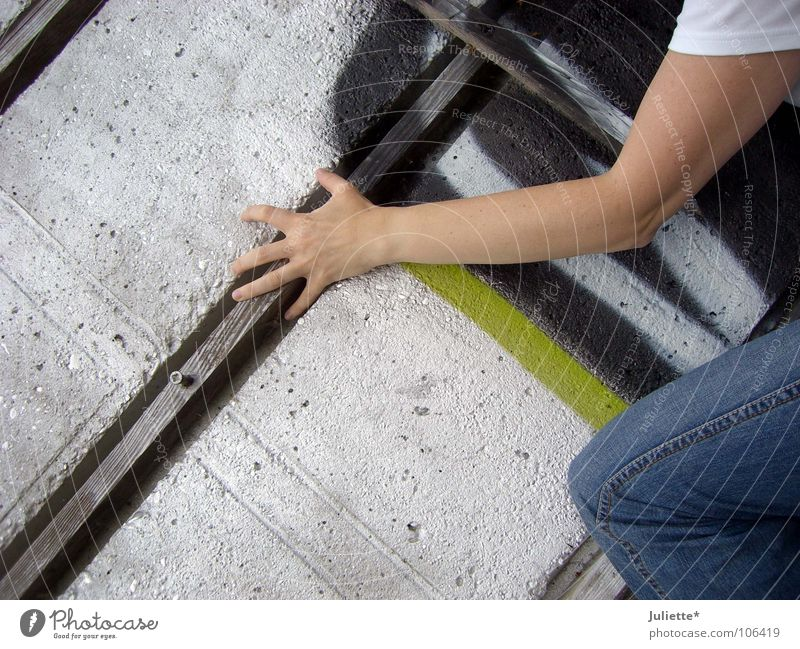 Hand Wall (building) Wood Power Arm Concrete Tall Dangerous Fingers Force Threat Jeans Pants Brave Reckless Skillful