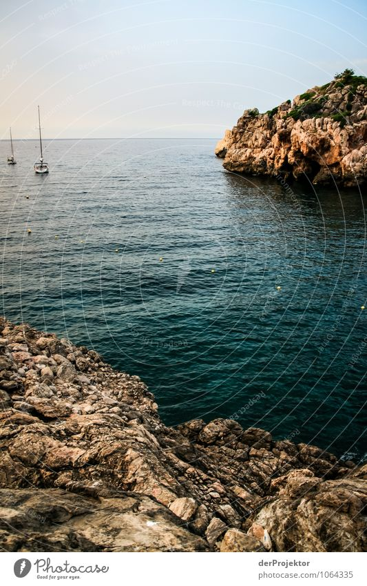 Mallorca from its beautiful side 69 - Rocky bay with boats Vacation & Travel Tourism Trip Adventure Far-off places Freedom Summer vacation Environment Nature