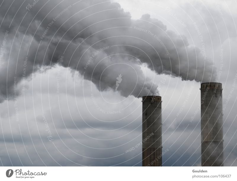 Nature Sky Clouds Gray Air Dirty Environment Industry Energy industry Dangerous Threat Smoke Chimney Electricity generating station Breath Filter