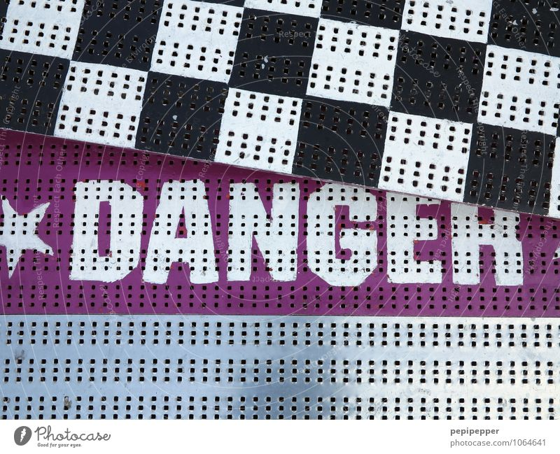Line Pink Fear Signs and labeling Characters Dangerous Signage Threat Stripe Adventure Risk Watchfulness Fairs & Carnivals Steel Sharp-edged