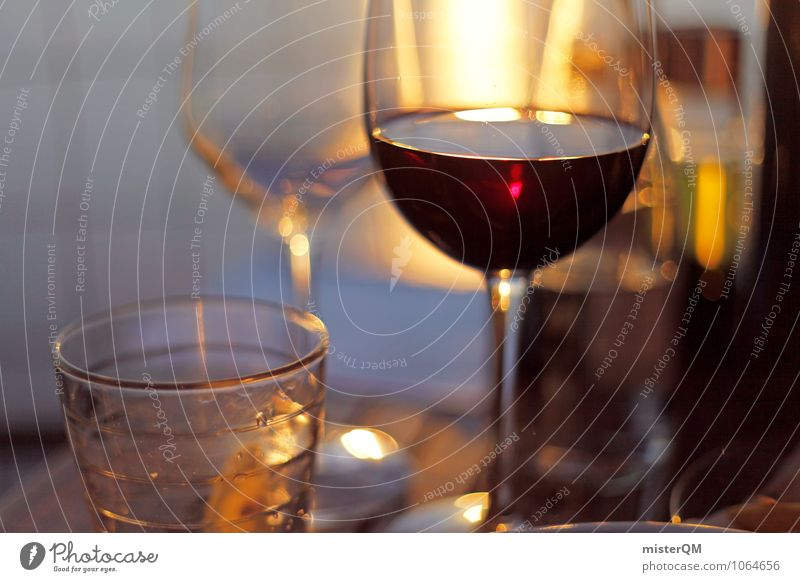 Spanish Food VI Dinner Beverage Drinking Cold drink Alcoholic drinks Spirits Wine Esthetic Romance Red wine Redwine glass Colour photo Subdued colour