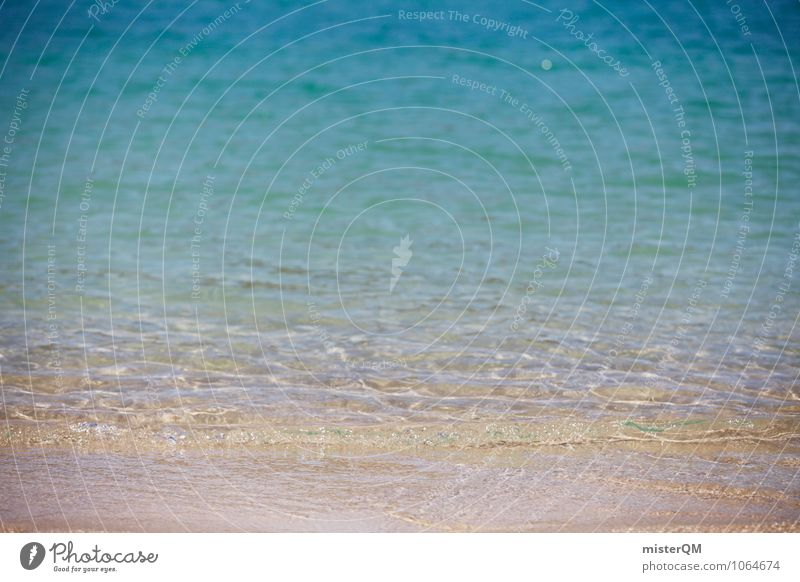 shallow. Environment Nature Water Esthetic Contentment Peaceful Ocean Sea water Sea level Beach Undulation Blue Vacation photo Vacation mood Shallow Flat