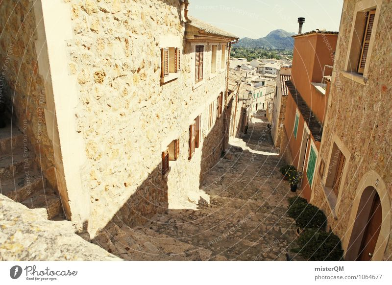 City House (Residential Structure) Wall (building) Wall (barrier) Esthetic Spain Village Mediterranean Majorca Alley Old town Town Outskirts Fishing village