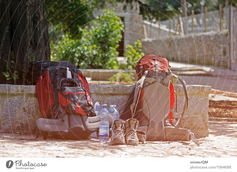 backpacker. Lifestyle Adventure Esthetic Backpack Backpacking Backpacking vacation 2 Together Hiking Break Hiking boots Exterior shot Bottle of water