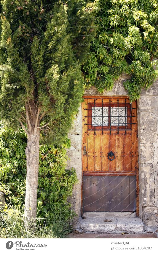 Garden door. Nature Adventure Entrance Front door Main gate Real estate Possessions Door Spain Majorca Green Tree Colour photo Subdued colour Exterior shot
