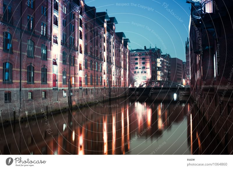 Sky Old Water House (Residential Structure) Architecture Building Exceptional Art Germany Facade Illuminate Fantastic Europe Industry Hamburg Historic