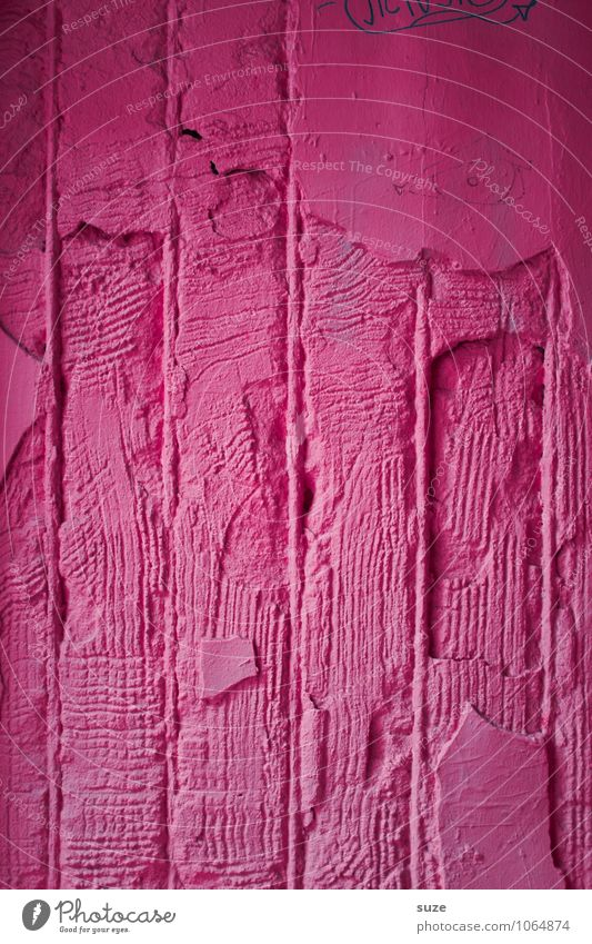 Old Eroticism Wall (building) Dye Emotions Feminine Style Wall (barrier) Background picture Line Moody Pink Lifestyle Facade Design Crazy