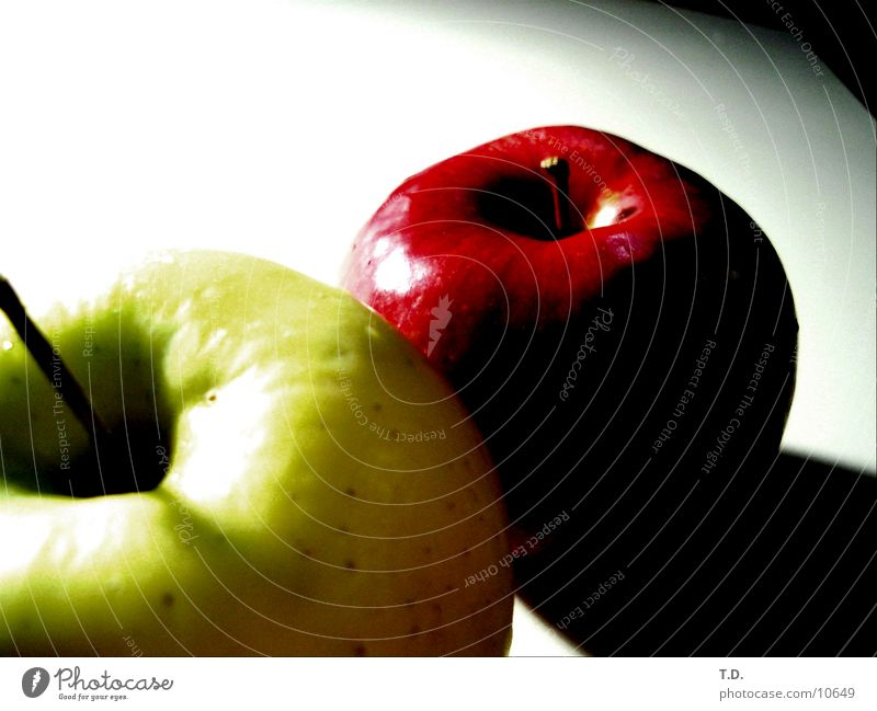 Green-Red Delicious Healthy Apple Fruit