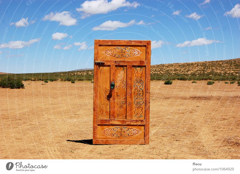 Door in the middle of Nowhere Technology Internet Nature Sand Skyline Soft Yellow Vacation & Travel sun adventure beauty landscape light natural sunlight wave