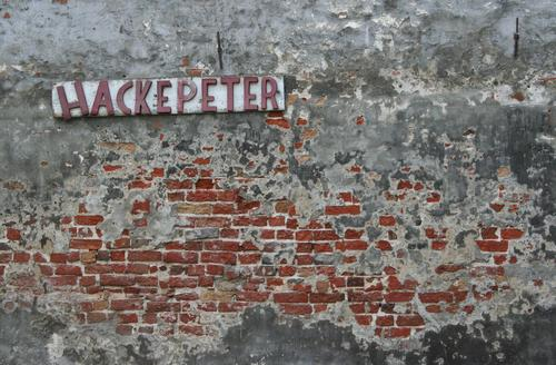 Peter Hacke - Master butcher Profession Craftsperson Gastronomy Art Small Town Deserted House (Residential Structure) Factory Ruin Manmade structures Building