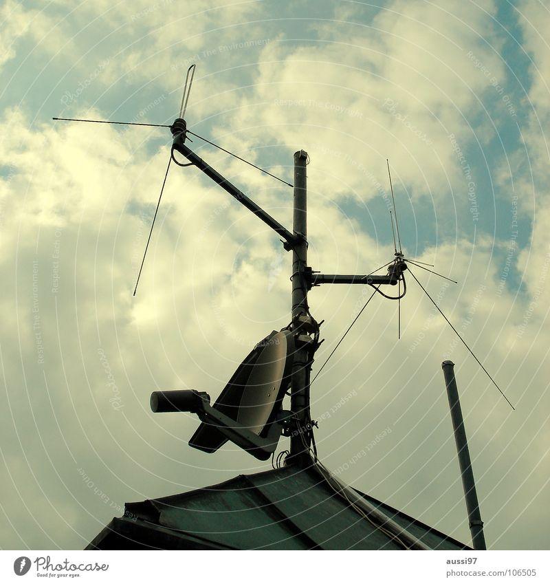 High-rise Roof Communicate Story Radiation Antenna Smog Shellfish Transmit Penthouse Frequency Broadcasting Transmission power