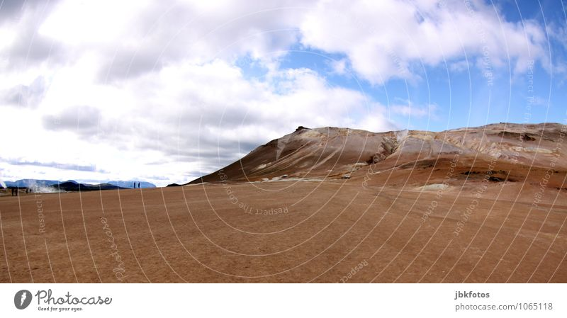 ICELAND / Námafjall [7] Environment Nature Landscape Plant Animal Elements Earth Sand Fire Air Water Sky Climate Warmth Drought Hill Mountain Hot Namafjall