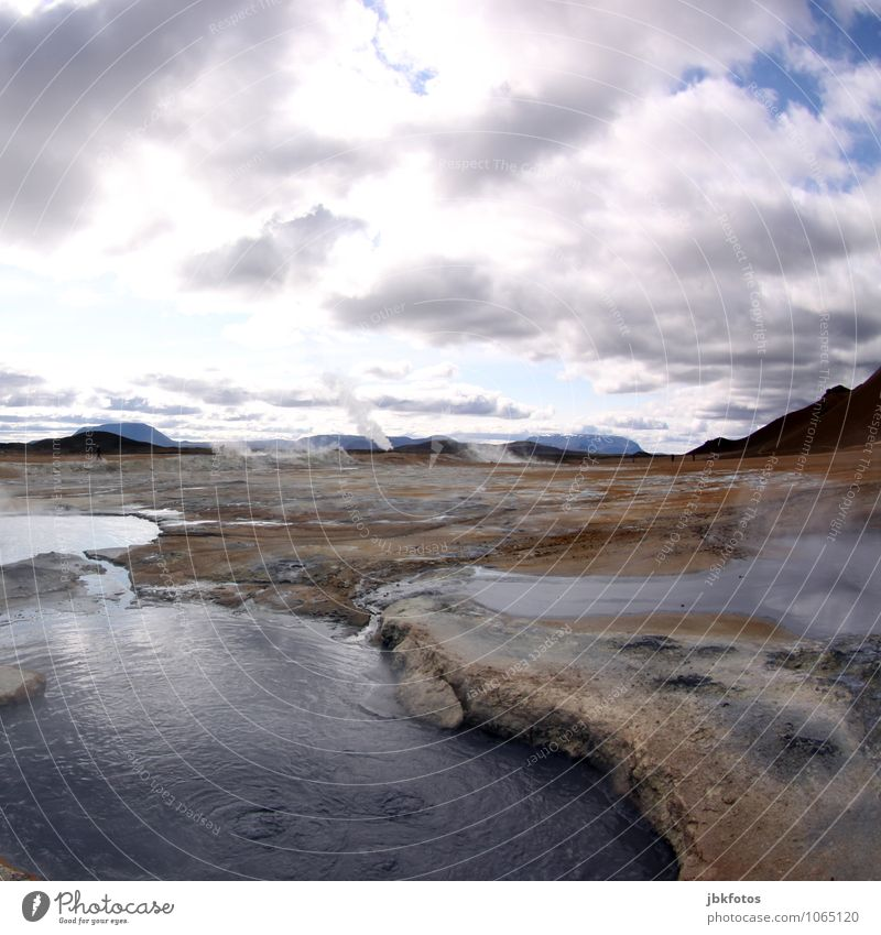 ICELAND / Námafjall [8] Environment Nature Landscape Plant Elements Earth Sand Fire Air Water Climate Fog Hill Mountain Volcano Hot Namafjall Exterior shot