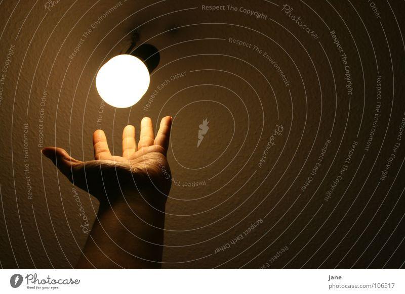 Hand Dark Lamp Fingers Near Trust Electric bulb Energy-saving bulb