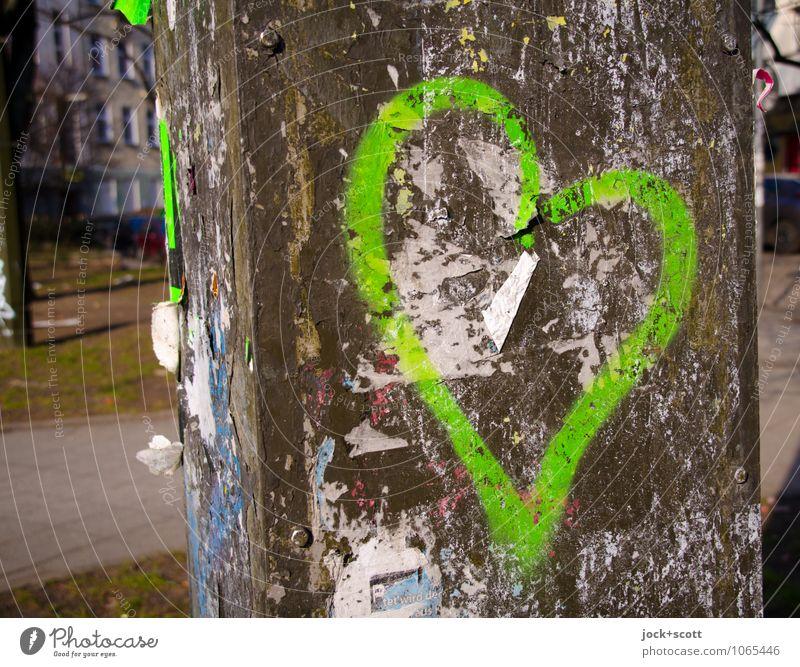 dear green Subculture Street art Environment Friedrichshain Scrap Rust Graffiti Crucifix Love Simple Firm Near Green Passion Infatuation Inspiration Creativity