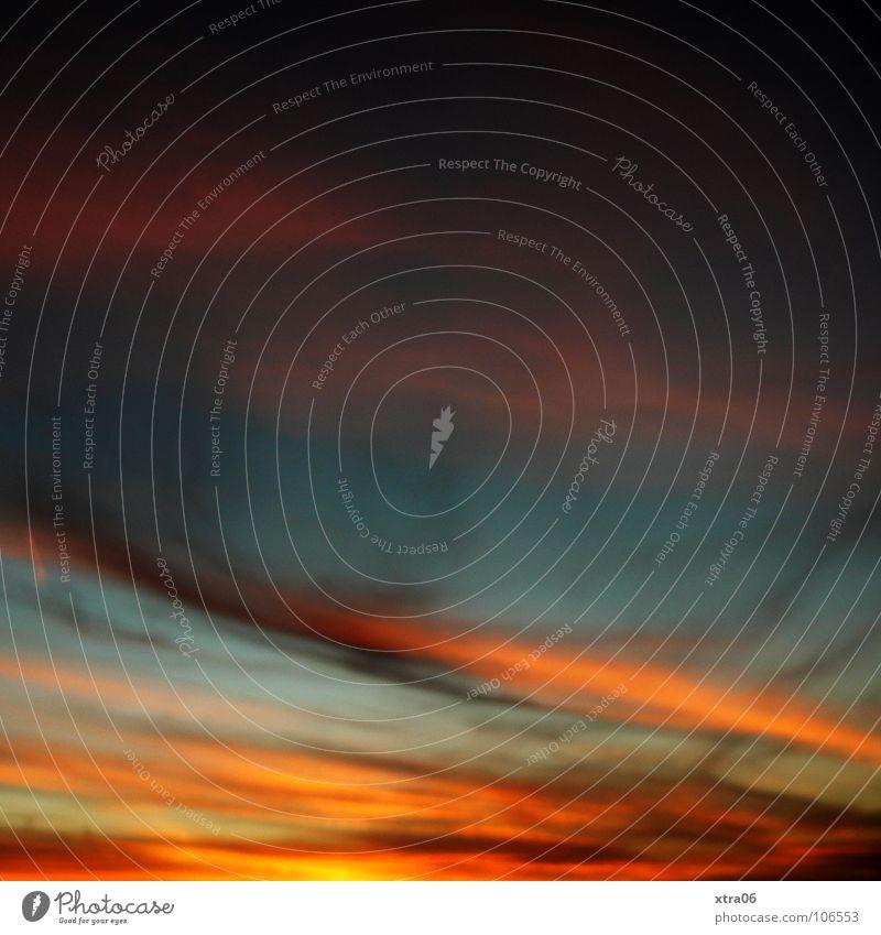 Sky Blue Clouds Orange Romance Color gradient