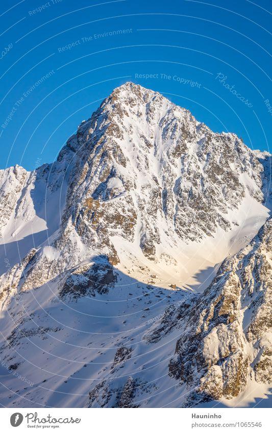 Nature Vacation & Travel Landscape Winter Mountain Emotions Snow Exceptional Rock Tourism Vantage point Beautiful weather Adventure Peak Hill Alps