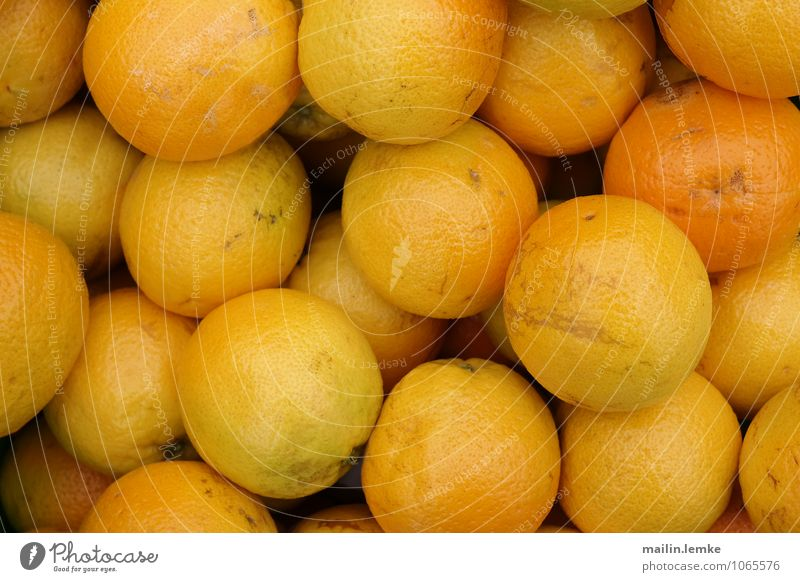 Yellow Healthy Orange Fruit Fresh Large Round Juicy
