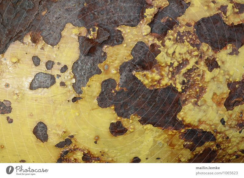 rust Metal Rust Old Authentic Brown Yellow Black Exterior shot Detail Abstract Pattern Structures and shapes Deserted