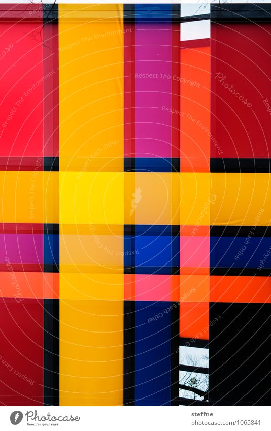 marqsism Art Colour Double exposure Yellow Red Colour photo Multicoloured Abstract Pattern Structures and shapes