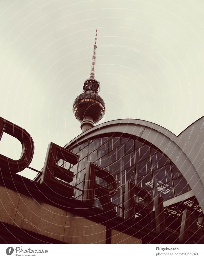DERPLA Berlin Berlin TV Tower Television tower Alexanderplatz Capital city East City Skyline Tourist Attraction