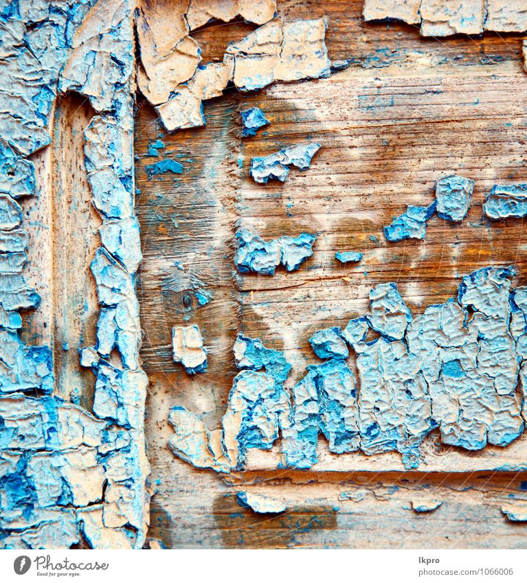 stripped paint in the City Old Blue House (Residential Structure) Wall (building) Architecture Wall (barrier) Brown Sand Art Metal Facade Dirty Decoration Door