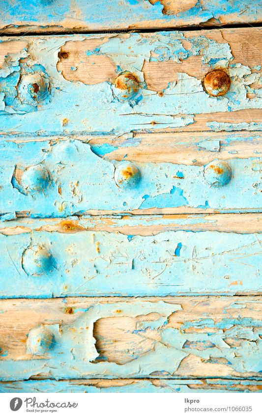 stripped paint in the blue Plate Tourism House (Residential Structure) Decoration Art Beautiful weather Town Old town Church Palace Architecture Wall (barrier)