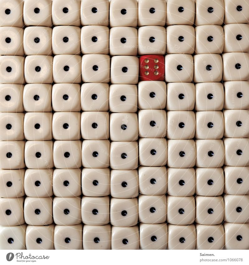 Red 1 Exceptional Line Sign Point Digits and numbers Dice Spotted 6 Outsider Kniffel Crap game