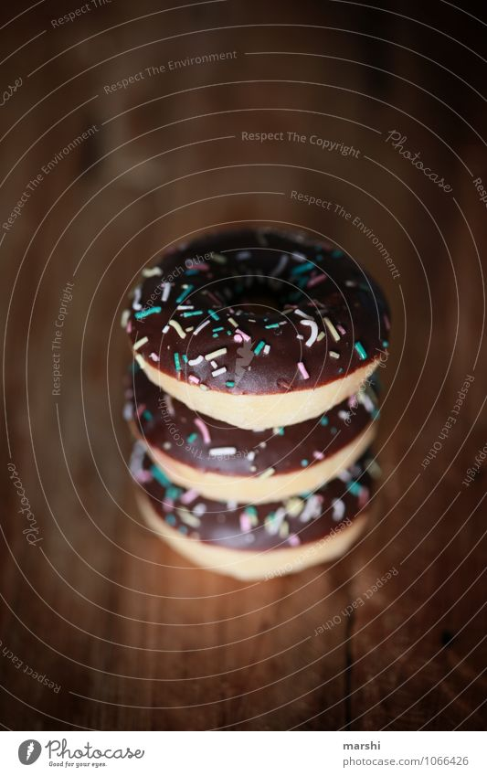 triple choc Food Candy Chocolate Nutrition Eating Moody Donut 3 Carnival Carnival fool Delicious Rich in calories Granules Colour photo Interior shot Close-up