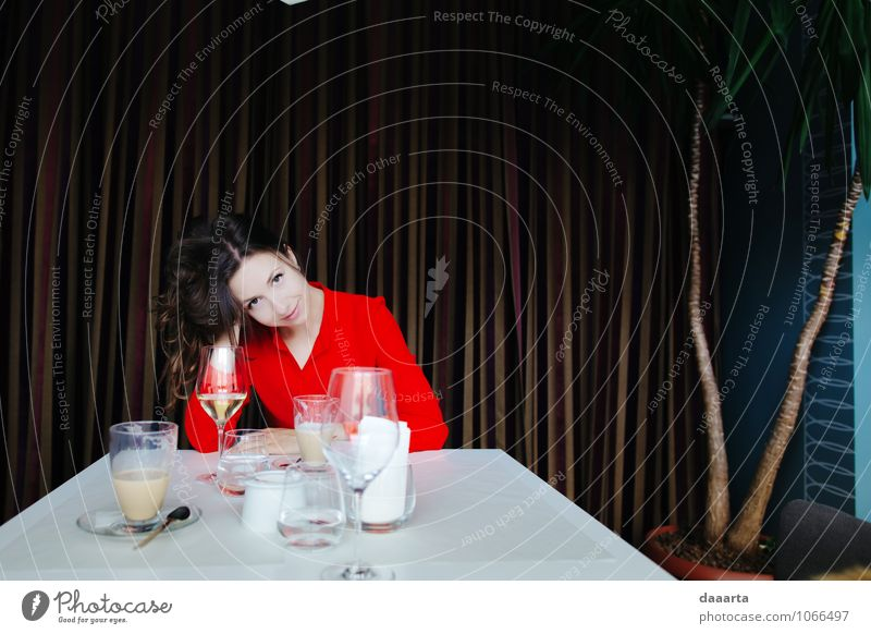 lunch date Relaxation Joy Life Feminine Freedom Lifestyle Moody Glittering Dream Wild Leisure and hobbies Elegant Modern Happiness Beverage Smiling