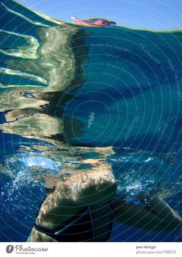 Water Ocean Blue Summer Vacation & Travel Waves Dive Swimming & Bathing Snorkeling Crete Sea water Paleochora