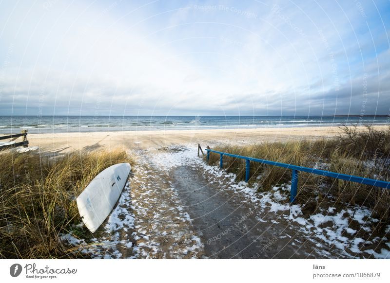 be simple Contentment Vacation & Travel Tourism Beach Winter Snow Environment Nature Landscape Sand Water Sky Clouds Sunlight Beautiful weather Ice Frost Grass