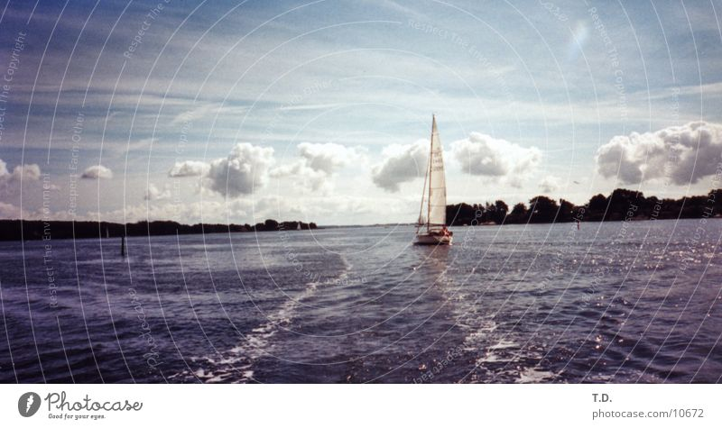 Water Ocean Clouds Island Harbour Baltic Sea Sailboat Denmark Scandinavia