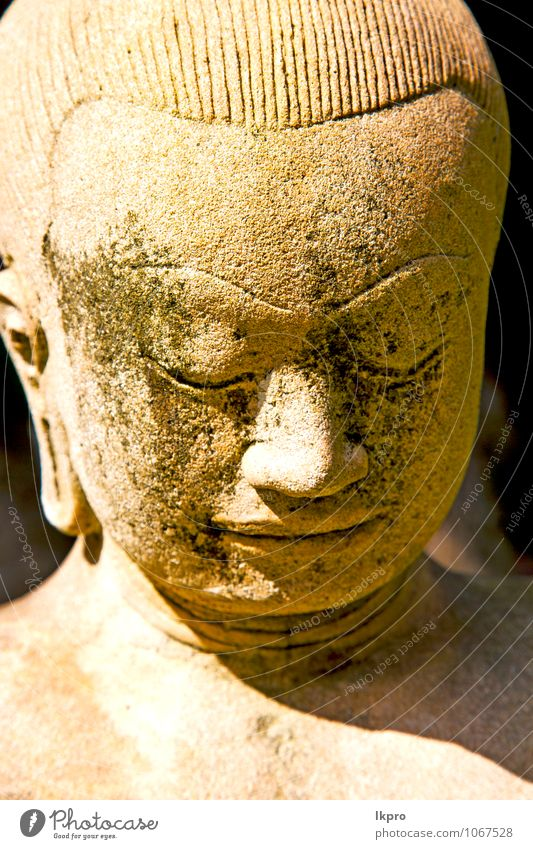 siddharta in the temple bangkok asia Face Vacation & Travel Tourism Yoga Art Work of art Sculpture Architecture Sky Village Palace Stone Concrete Metal Old