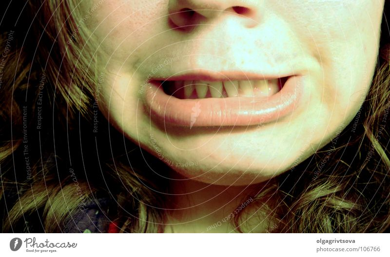 I-G-I-T-T Yuck Lips Disgust Grimace Youth (Young adults) Mouth rebuffed spell Distorted