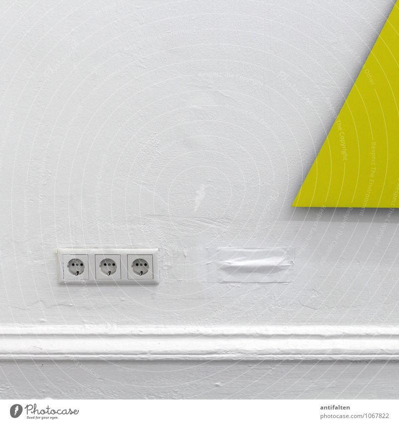 Yellow Current Socket Connector Electricity Technology Energy industry Manmade structures Building Architecture Wall (barrier) Wall (building) Stucco
